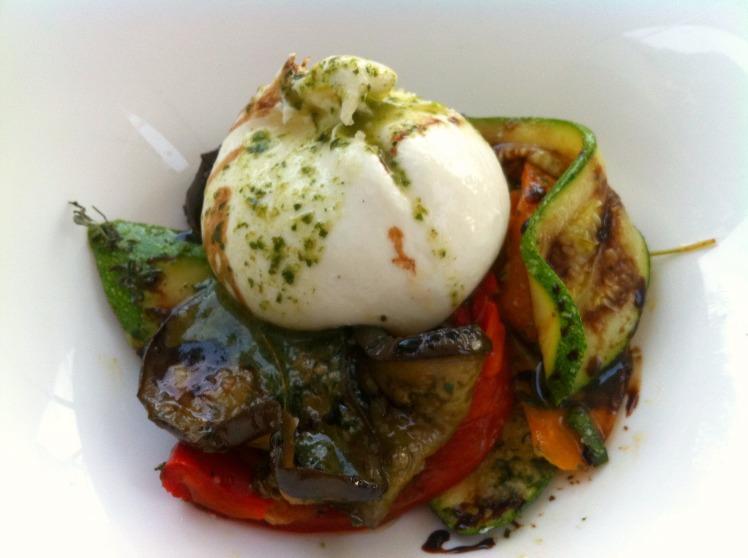 Caffe Italien - Burrata et petits légumes grillés