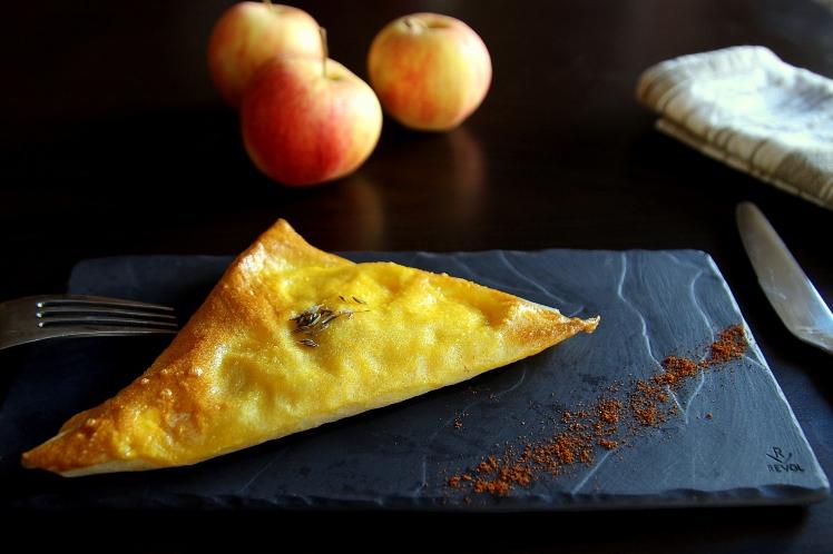 Blog cuisine lyon Brick pommes chèvre miel et safran