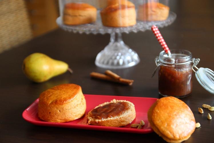 Blog_cuisine_lyon_scones_confiture_poire_epices_recette